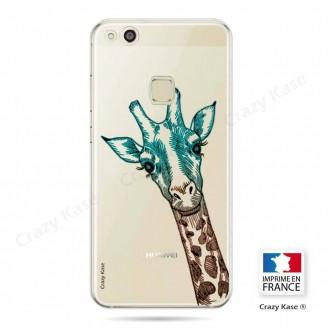 Coque Huawei P10 Lite souple motif Tête de Girafe - Crazy Kase