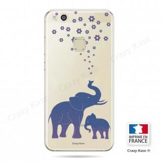 Coque Huawei P10 Lite souple motif Eléphant Bleu - Crazy Kase
