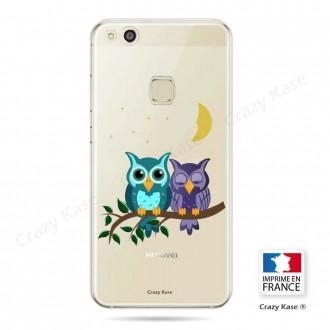 Coque Huawei P10 Lite souple motif chouettes au clair de lune - Crazy Kase