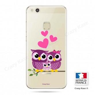 Coque Huawei P10 Lite souple motif Famille Chouette - Crazy Kase