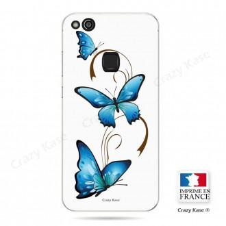 Coque Huawei P10 Lite souple motif Papillon et Arabesque sur fond blanc - Crazy Kase