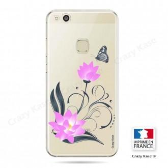 Coque Huawei P10 Lite souple motif Fleur de lotus et papillon- Crazy Kase