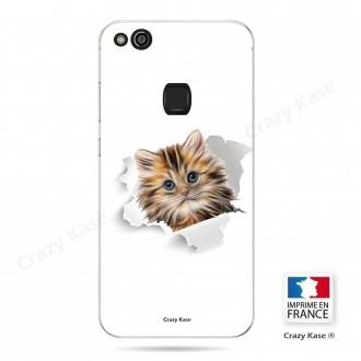 Coque Huawei P10 Lite souple motif Chat trop mignon - Crazy Kase