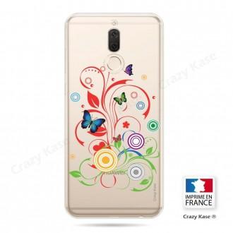 Coque Huawei Mate 10 Lite souple motif Papillons et Cercles - Crazy Kase