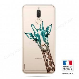 Coque Huawei Mate 10 Lite souple motif Tête de Girafe - Crazy Kase