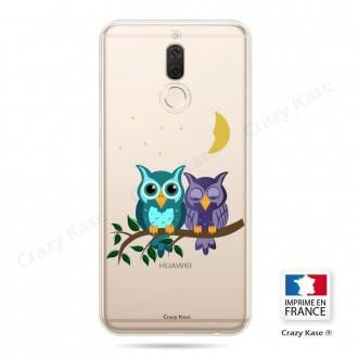 Coque Huawei Mate 10 Lite souple motif chouettes au clair de lune - Crazy Kase