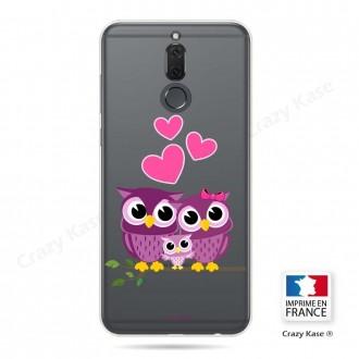 Coque Huawei Mate 10 Lite souple motif Famille Chouette - Crazy Kase