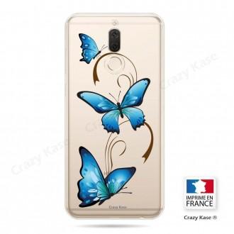 Coque Huawei Mate 10 Lite souple motif Papillon sur Arabesque - Crazy Kase