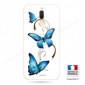 Coque Huawei Mate 10 Lite souple motif Papillon et Arabesque sur fond blanc - Crazy Kase