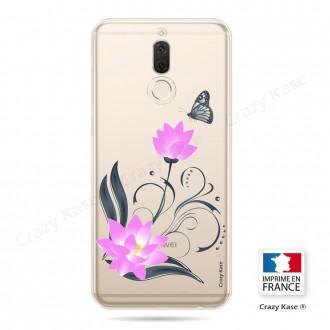 Coque Huawei Mate 10 Lite souple motif Fleur de lotus et papillon- Crazy Kase