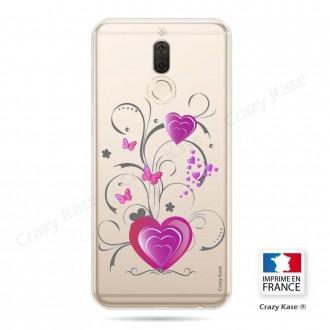 Coque Huawei Mate 10 Lite souple motif Cœur et papillon - Crazy Kase