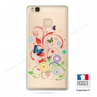 Coque Huawei P9 Lite souple motif Papillons et Cercles - Crazy Kase