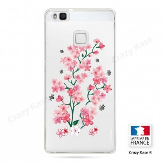 Coque Huawei P9 Lite souple motif Fleurs de Sakura - Crazy Kase