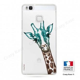 Coque Huawei P9 Lite souple motif Tête de Girafe - Crazy Kase
