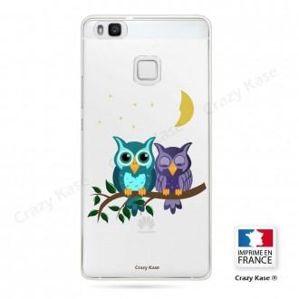 Coque Huawei P9 Lite souple motif chouettes au clair de lune - Crazy Kase