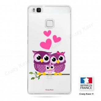 Coque Huawei P9 Lite souple motif Famille Chouette - Crazy Kase
