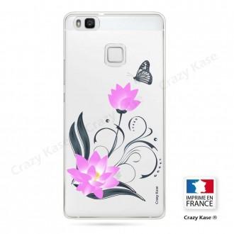 Coque Huawei P9 Lite souple motif Fleur de lotus et papillon- Crazy Kase