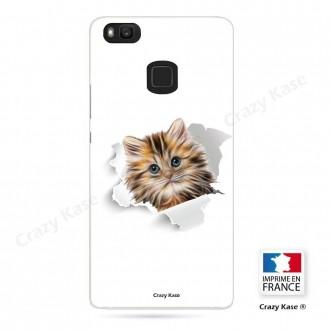 Coque Huawei P9 Lite souple motif Chat trop mignon - Crazy Kase