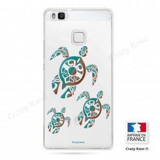 Coque Huawei P9 Lite souple motif Famille Tortue - Crazy Kase