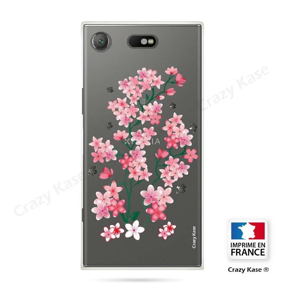 Coque Xperia XZ1 Compact souple motif Fleurs de Sakura - Crazy Kase
