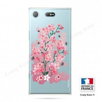 Coque Xperia XZ1 Compact souple motif Fleurs de Cerisier - Crazy Kase