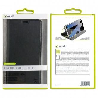 Etui Huawei Mate 10 Lite Porte cartes Noir - Muvit