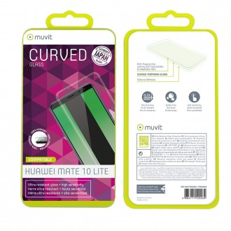 Film Huawei Mate 10 Lite protection écran verre trempé incurvé - Muvit
