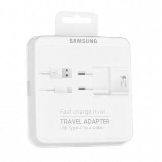 Chargeur secteur USB + cable USB Type-C Blanc EP-TA20EWECGWW - Samsung