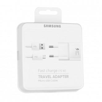 Chargeur secteur USB + cable micro USB Blanc EP-TA20EWEUGWW - Samsung