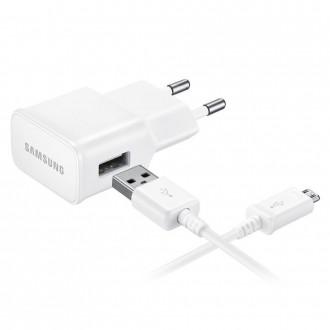 Chargeur secteur USB + cable micro USB Blanc EP-TA20EWE en vrac - Samsung