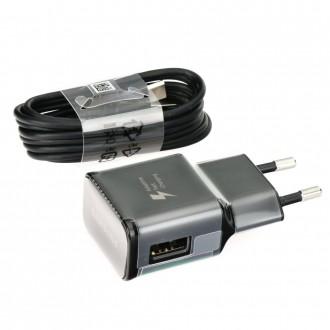 Chargeur secteur USB + cable USB Type-C Noir EP-TA20EBE en vrac - Samsung