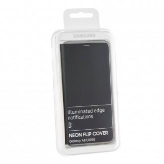Etui Galaxy A8 (2018) Neon Flip Cover Noir - Samsung