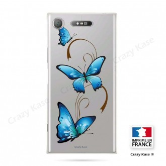 Coque Xperia XZ1 souple motif Papillon sur Arabesque - Crazy Kase
