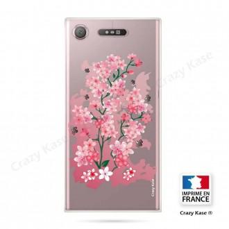 Coque Xperia XZ1 souple motif Fleurs de Cerisier - Crazy Kase