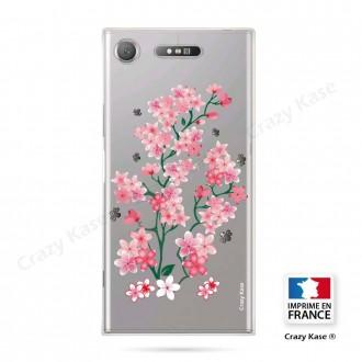 Coque Xperia XZ1 souple motif Fleurs de Sakura - Crazy Kase