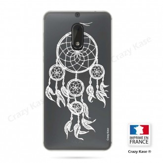 Coque Nokia 6 souple motif Attrape Rêves Blanc - Crazy Kase