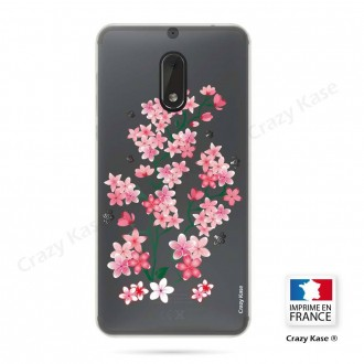 Coque Nokia 6 souple motif Fleurs de Sakura - Crazy Kase