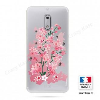 Coque Nokia 6 souple motif Fleurs de Cerisier - Crazy Kase