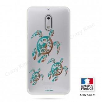 Coque Nokia 6 souple motif Famille Tortue - Crazy Kase