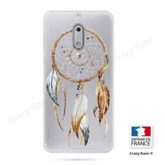 Coque Nokia 6 souple motif Attrape Rêves Nature - Crazy Kase