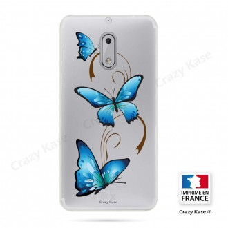 Coque Nokia 6 souple motif Papillon sur Arabesque - Crazy Kase