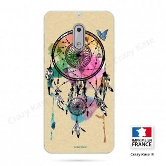 Coque Nokia 6 souple motif Attrape rêve et papillon - Crazy Kase