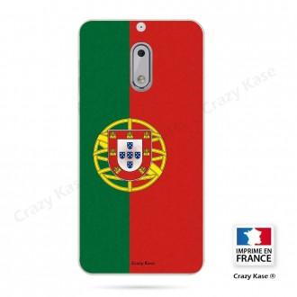 Coque Nokia 6 souple motif Drapeau Portugais - Crazy Kase
