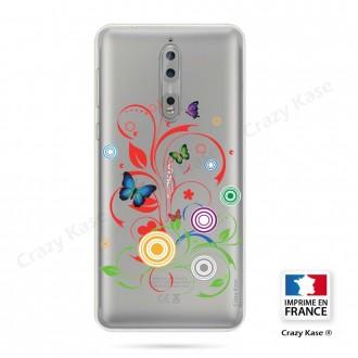 Coque Nokia 8 souple motif Papillons et Cercles - Crazy Kase