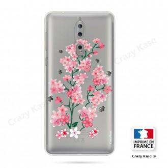 Coque Nokia 8 souple motif Fleurs de Sakura - Crazy Kase