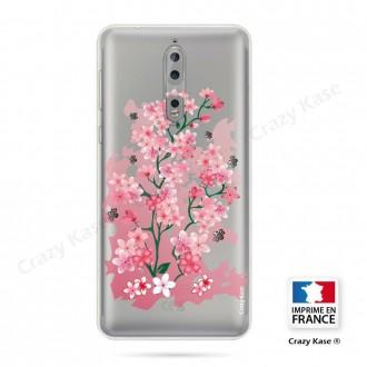 Coque Nokia 8 souple motif Fleurs de Cerisier - Crazy Kase
