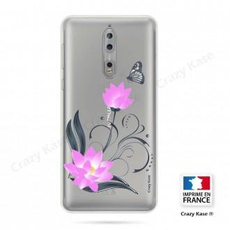 Coque Nokia 8 souple motif Fleur de lotus et papillon- Crazy Kase