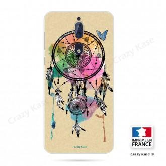 Coque Nokia 8 souple motif Attrape rêve et papillon - Crazy Kase