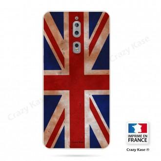 Coque Nokia 8 souple motif Drapeau UK vintage - Crazy Kase