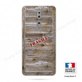 Coque Nokia 8 souple effet Caisse en bois - Crazy Kase